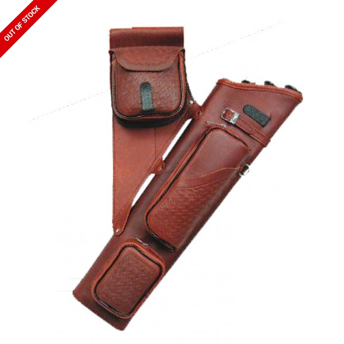 Neet Basket Weave Leather Target Quiver
