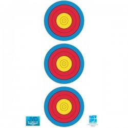 3 Spot Vertical Target Faces